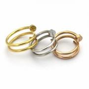 CARTIERジュエリースーパーコピー釘の型リング軽量洗練さカルティエリング誕生日プレゼント単色指輪コピー美しさ光沢プレゼント