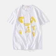 正規品保証19春夏 Off-White オフホワイト 半袖Tシャツ OFF-WHITE 2色可選 新作限定めっちゃ綺麗色