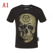 ファッションスタイルへの鍵 2色可選 目立つような強い 半袖Tシャツ  とても重宝します フィリッププレイン PHILIPP PLEIN